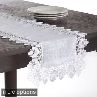 Contemporary tablecloths table linens decor for less lace trimmed table linens junglespirit Image collections