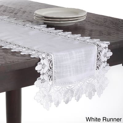 Lace Trimmed Table Linens