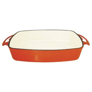 Le Cuistot Red Enameled Cast-Iron Skillet