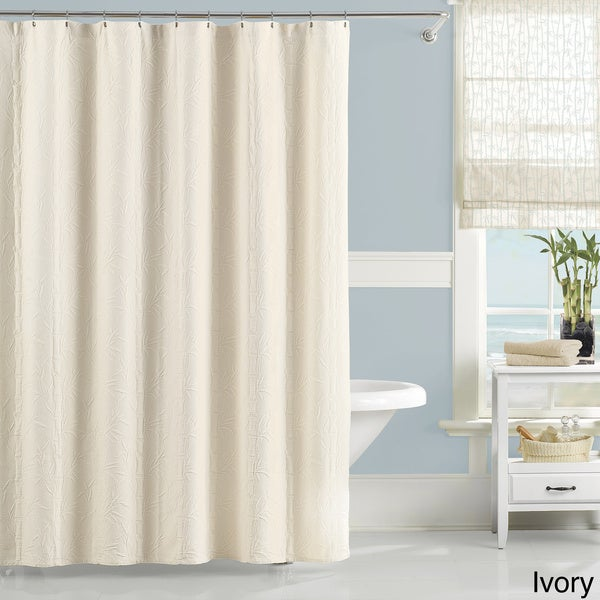 Shop Luxury Matelasse Nepal Bamboo Pattern Shower Curtain - Free ...