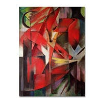 Franz Marc 'The Fox 1913' Canvas Art