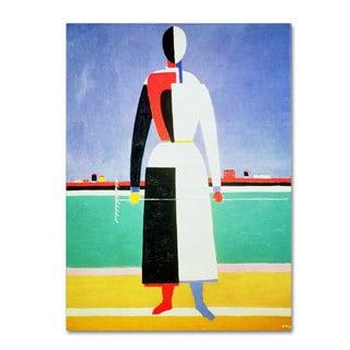Kazimir Malevich 'Woman With Rake 1928-32' Canvas Art