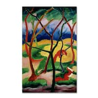 Franz Marc 'Weasels Playing 1911' Canvas Art - Multi