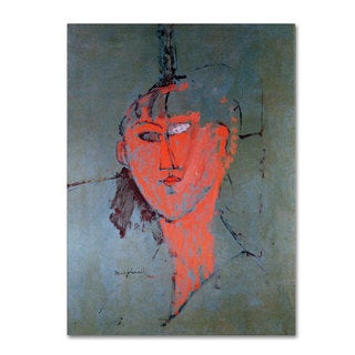 Amadeo Modigliani 'The Red Head 1915' Canvas Art