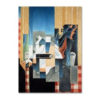 Juan Gris 'Still Life With Violin and Guitar' Canvas Art