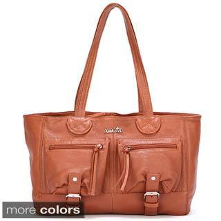 Ann Creek 'Beatty' Leather Satchel Bag
