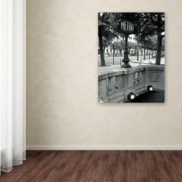 Kathy Yates Le Metro Canvas Art Overstock 8450600
