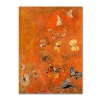 Odilon Redon 'Evocation of Butterflies 1912' Canvas Art