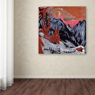 Ernst Kirchner 'Mountains In Winter 1919' Canvas Art