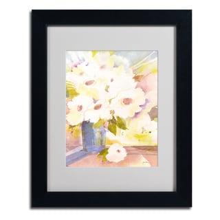 Sheila Golden 'Boquet In White' Framed Matted Art