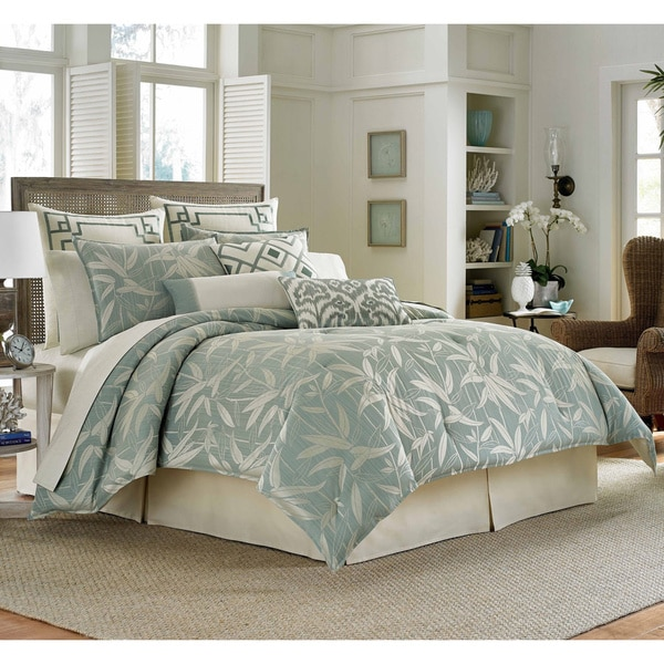 Tommy Bahama Bamboo Print Breeze 4 Piece Comforter Set