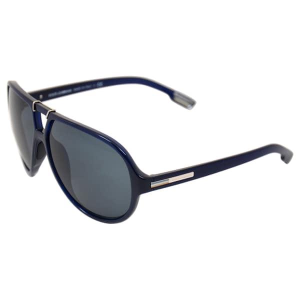 Dolce & Gabbana Men's Blue Aviator Sunglasses