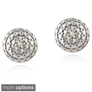 DB Designs Sterling Silver Diamond Accent Earrings