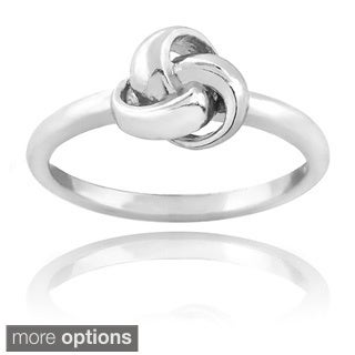 Mondevio Sterling Silver or Gold Overlay Love Knot Ring