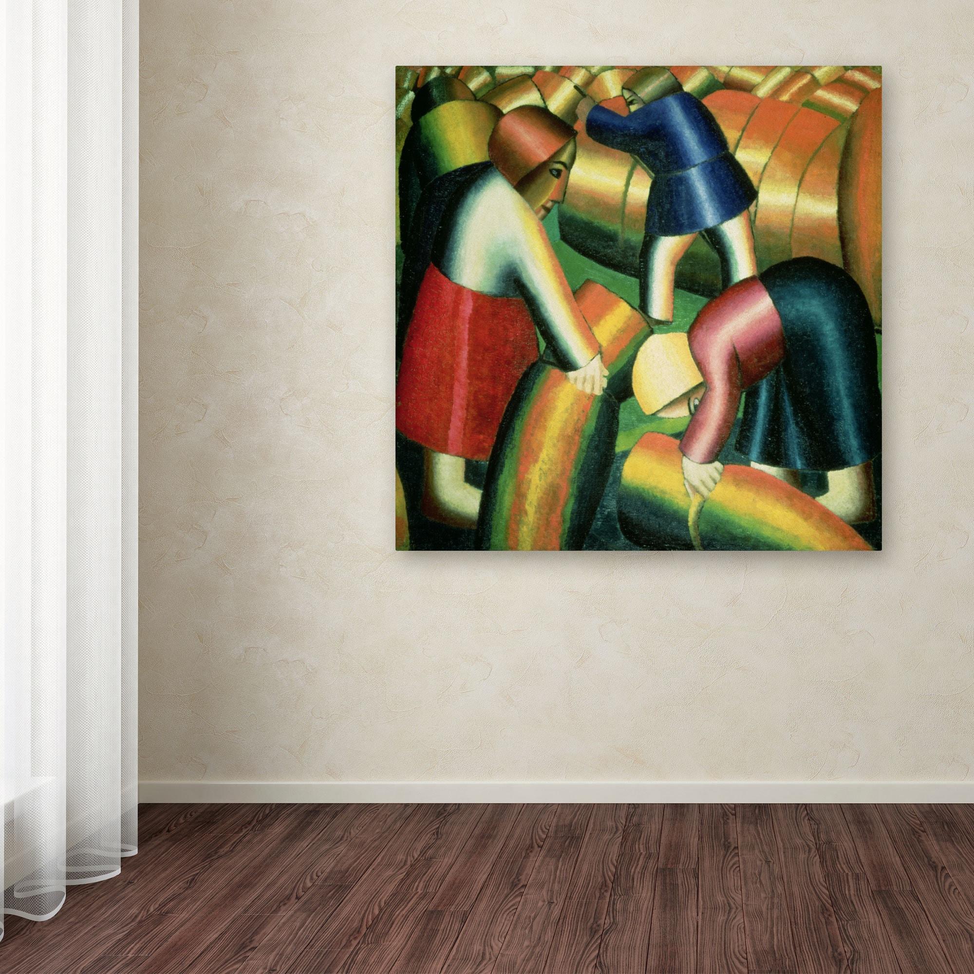 Kazimir Malevich Taking In The Rye 1912 Canvas Art Multi Overstock 8451081