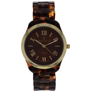 Christian Van Sant Women's 'Fluer' Brown Dial Watch