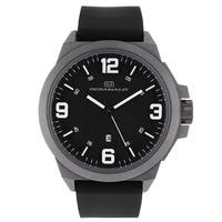 Oceanaut Men's  Black Pilot Watch with White Luminous Hands