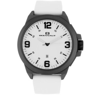 Oceanaut Men's OC7112 White Pilot Watch with Black Luminous Hands