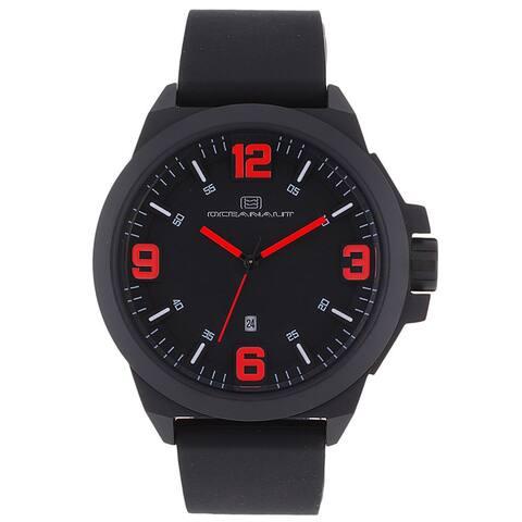 Oceanaut Men's Black Pilot Watch with Red Luminous Hands - Black/Red