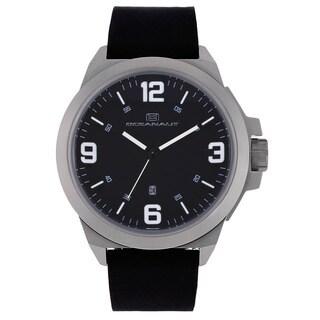 Oceanaut Men's Black Pilot Watch with White Luminous Hands