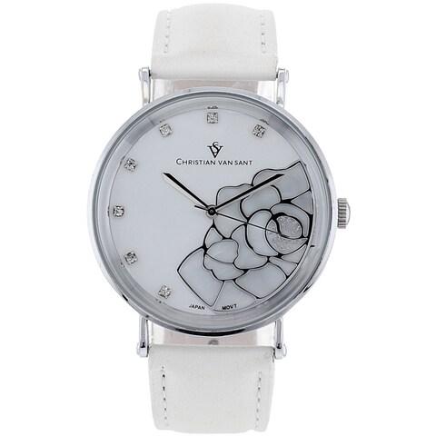 Christian Van Sant Women's 'Fluer' Stainless Steel Watch