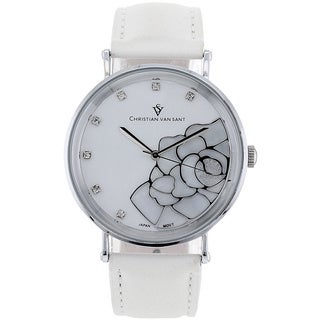 Christian Van Sant Women's 'Fluer' Stainless Steel Watch