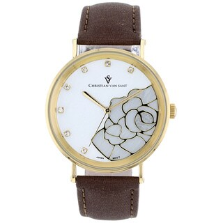 Christian Van Sant Women's 'Fluer' White Dial Watch