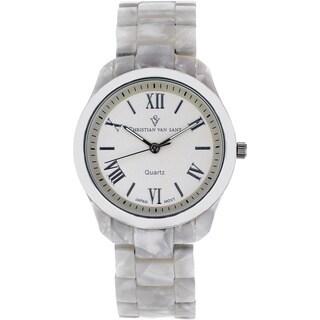 Christian Van Sant Women's 'Fluer' Silver Dial Watch
