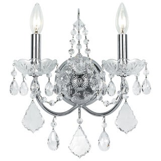 Crystorama Imperial Collection 2-light Chrome Wall Sconce