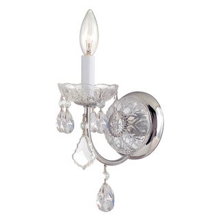 Crystorama Imperial Collection 1-light Chrome Wall Sconce