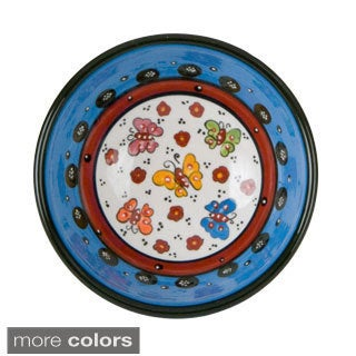 Handmade Colorful Decorative Butterfly Bowl (Turkey)
