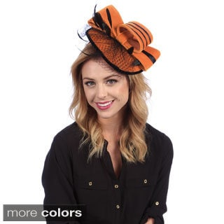 Swan Women's Two-tone Velvet Fascinator