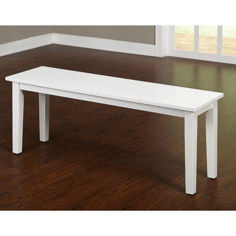 Simple Living Tiffany White Dining Bench - N/A