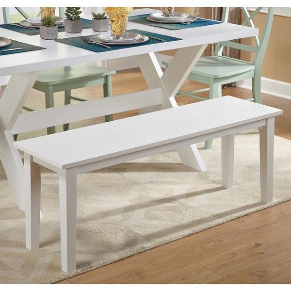 Bon Simple Living Tiffany White Dining Bench