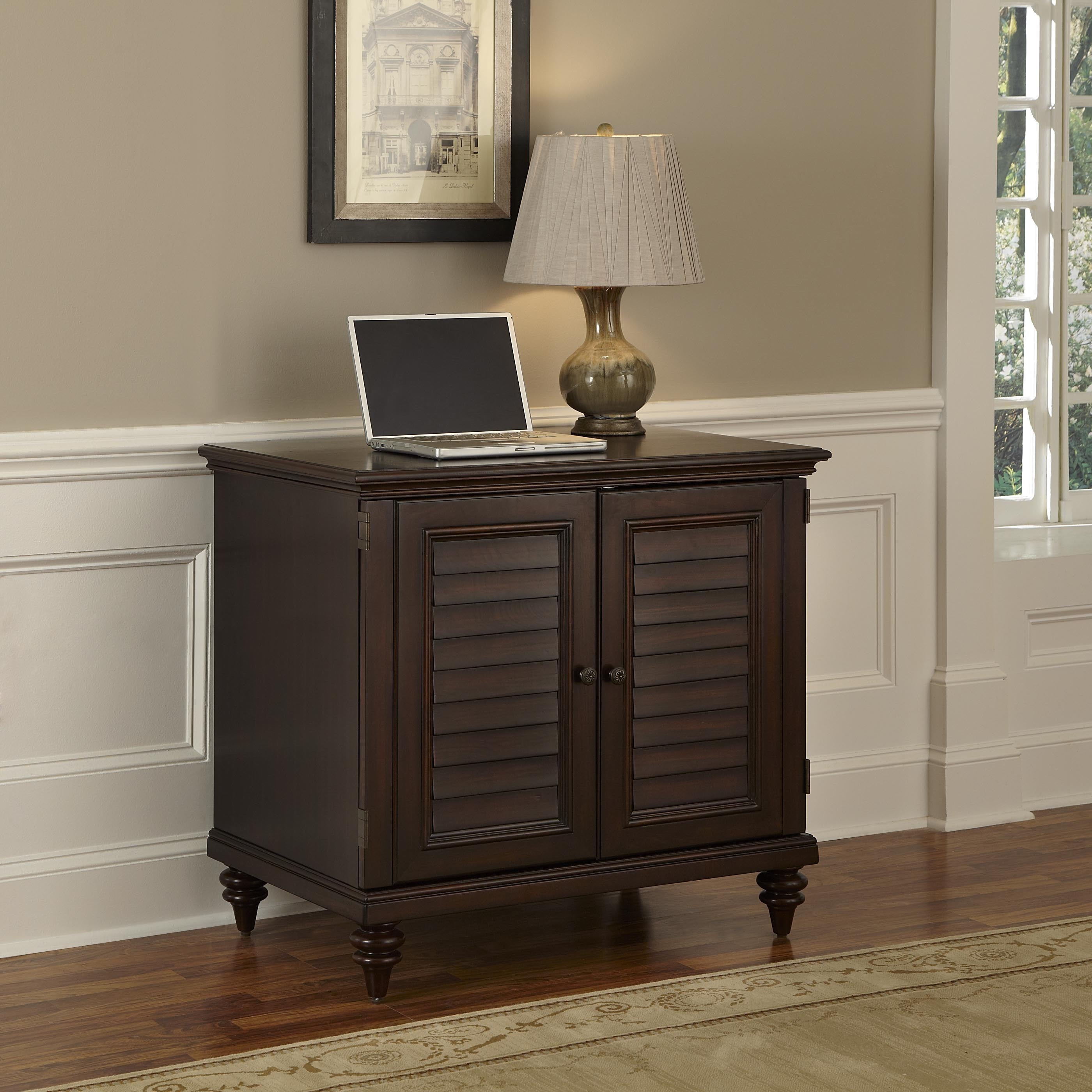 Beau Bermuda Compact Computer Cabinet By Home Styles