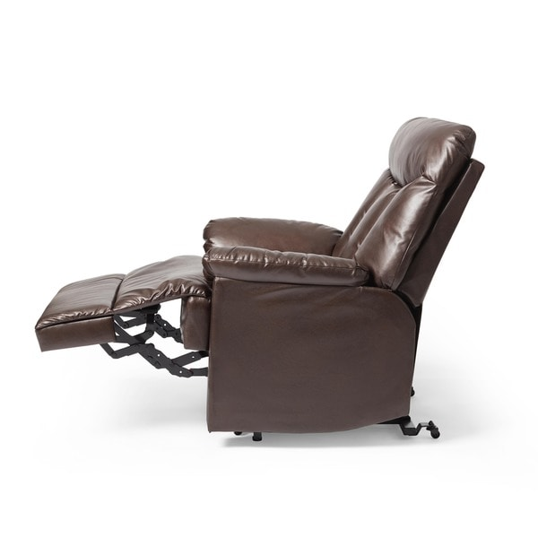 prolounger lya brown leather power recline and lift wall hugger chair free shipping today
