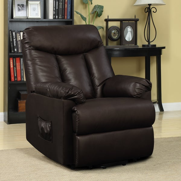 Power Lift Recliner Chair Leather Wall Hugger Electric