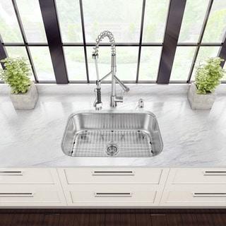 VIGO All-in-One 30-inch Stainless Steel Undermount Kitchen Sink and Zurich Stainless Steel Faucet Set