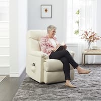 Oliver & James Bruno Cream Leather Power Recline Chair