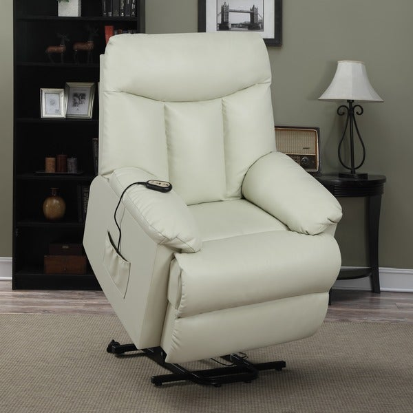 prolounger lya renu leather power recline and lift