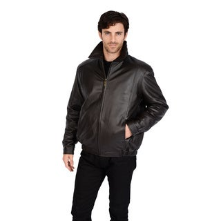 Excelled Men's Collection Lamb Leather Bomber Jacket