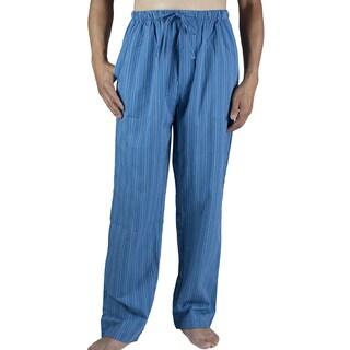 Leisureland Men's Blue Striped Cotton Lounge Pants