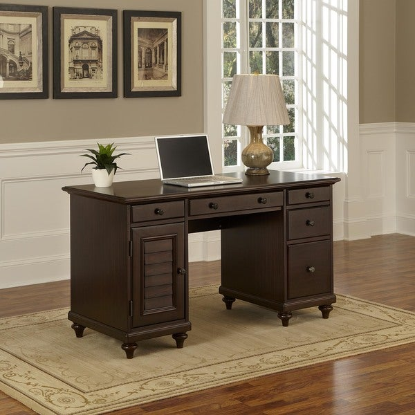 Bermuda Pedestal Desk By Home Styles Free Shipping Today