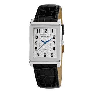 Stuhrling Original Men's Skyline Swiss Quartz Movement Strap Strap Watch