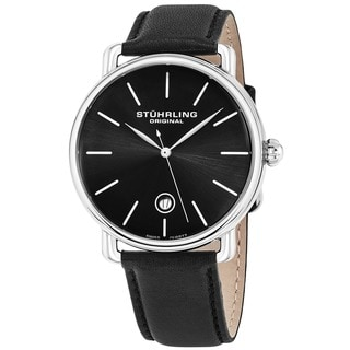 Stuhrling Original Men's Agent Swiss Quartz Strap Strap Watch
