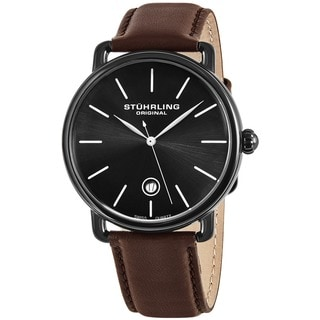 Stuhrling Original Men's Agent Swiss Quartz Strap Strap Watch
