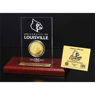 University of Louisville Gold Coin Etched Acrylic