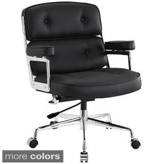 Deluxe Vinyl Executive Office Chair in Black
