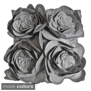 Rose Petals Down Fill Decorative Pillow
