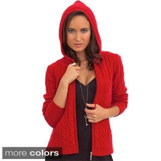 Luigi Baldo Women's Italian Cashmere Hooded Sweater